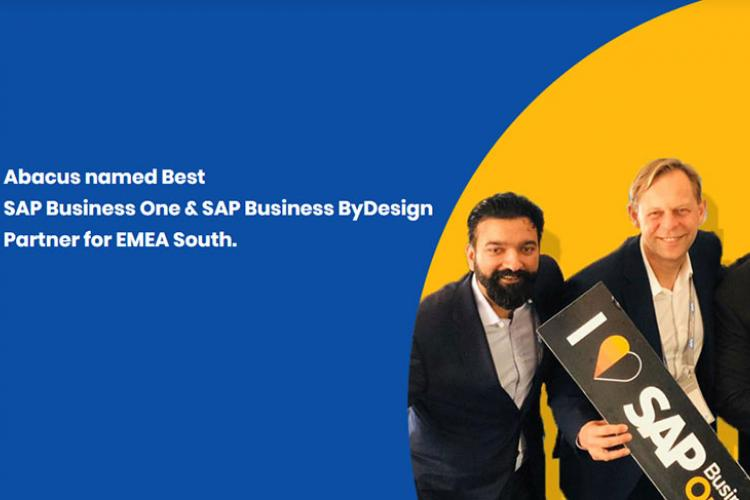 Abacus named Best SAP Business One & SAP Business ByDesign Partner for EMEA South
